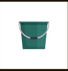 green flat empty bucket icon logo vector image