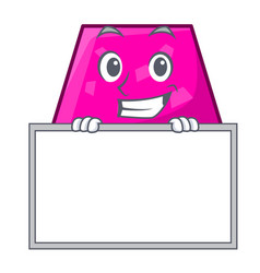 grinning with board trapezoid character cartoon vector image