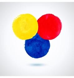Grunge paint circles vector image