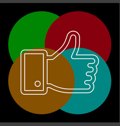 hand thumb up icon vector image
