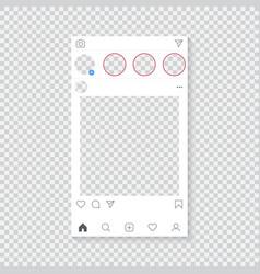 Instagram mockup vector