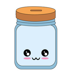 Kawaii bottle icon vector