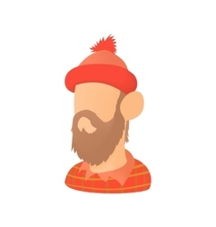 Lumberjack icon in cartoon style vector image