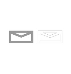 Mail grey set icon vector