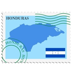 Mail to-from honduras vector