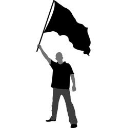 Man with flag vector