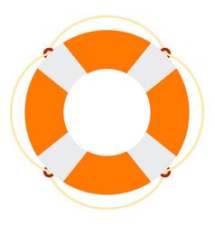 Marine lifebuoy icon flat isolated vector