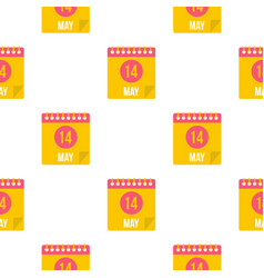 may 14 calendar pattern seamless vector image