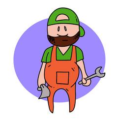mechanic guy vector image
