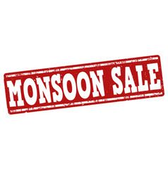 Monsoon sale stamp vector