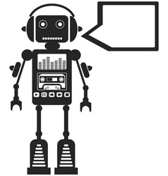 Music Robot vector