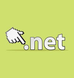 net hand vector image