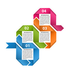 options infographic timeline design template vector image