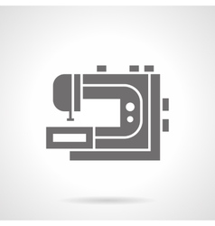 Professional sewing machine glyph icon vector