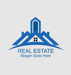 Real estate building logo design image vector