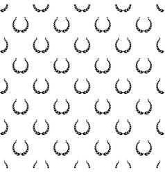 Royal wreath pattern seamless vector