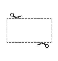 scissors black icon with cut lines set vector image