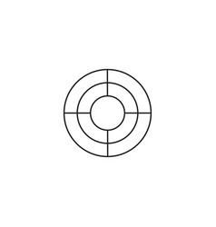 Seo target bullseye icon successful business vector