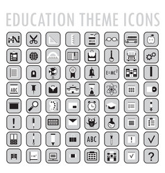 set of 64 education theme icons vector image