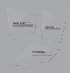 Set of glass panels vector