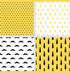 set of printable seamless male patterns vector image