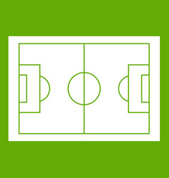 soccer field icon green vector image