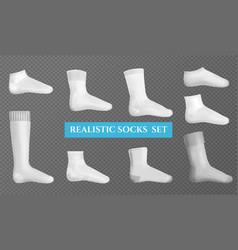 socks layouts transparent set vector image