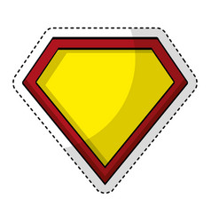 Super hero shield pop art vector