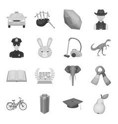 taxi sports animal and other web icon in vector image