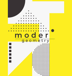 Universal trend poster linear geometric shapes vector