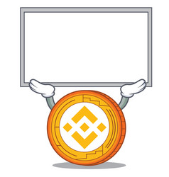 Up board binance coin character catoon vector