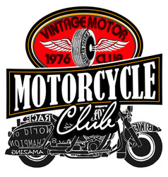 Vintage motor club signs vector