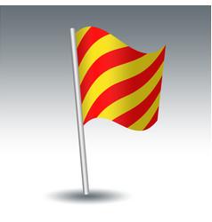 Waving maritime signal flag y yankee vector