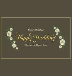 Wedding card design style collection vector