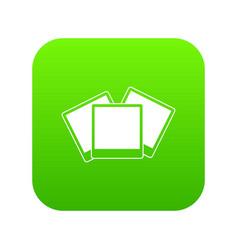 wedding invitation cards icon digital green vector image