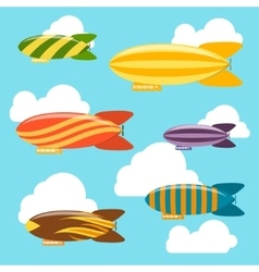 Airships Background vector image vector image