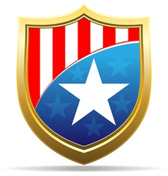 american badge vector image