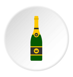 champagne icon circle vector image vector image