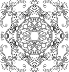 contour floral seamless pattern vector image vector image