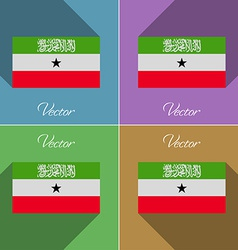 Flags South Africa Set of colors flat design and vector image
