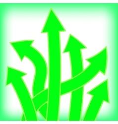 Set of Green Arrows vector image