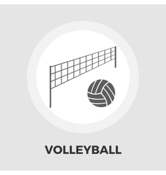 Volleyball icon flat vector image vector image