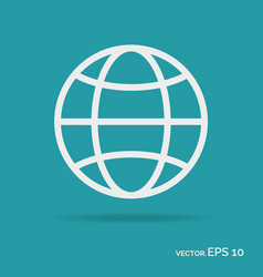 world outline icon white color vector image vector image