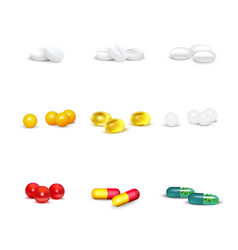 3d pills set vector image