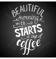 Coffee on chalk 1 vector