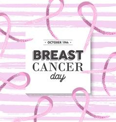 Pink breast cancer awareness design vector image vector image