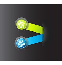 Set of two horizontal labels hiding in paper vector image vector image