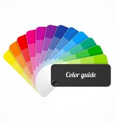 Color palette guide fan catalog vector image vector image