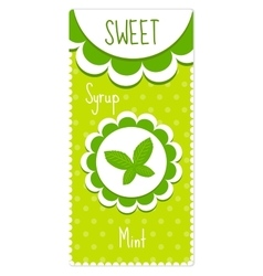 Cute labels for drinks syrup Mint label vector image vector image