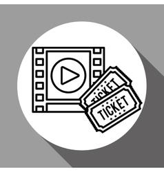 film reel design vector image vector image
